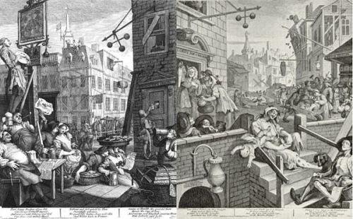 Bear Street and Gin Lane by William Hogarth - he drew, we snap - familiar?