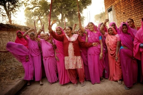 """Pink Sari Movement - Women Against Violence Against Women in India"""