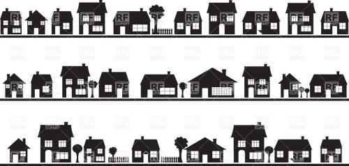 neighbourhood-silhouettes-of-country-houses-Download-Royalty-free-Vector-File-EPS-69644
