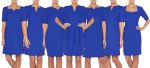 Electric-Blue-Work-dresses