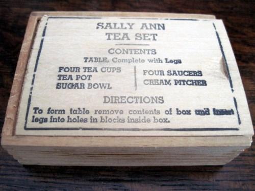 sally ann teaset box