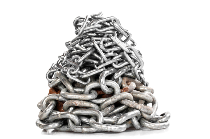 over-linking-pile-of-chains